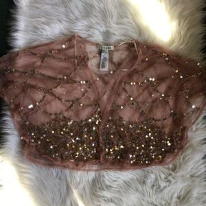 Forever 21 sequined shortie jacket size Small